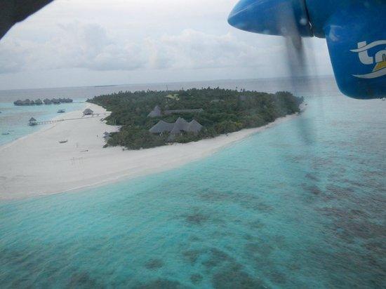 Coco Palm Dhuni Kolhu : Вид на остров с самолета