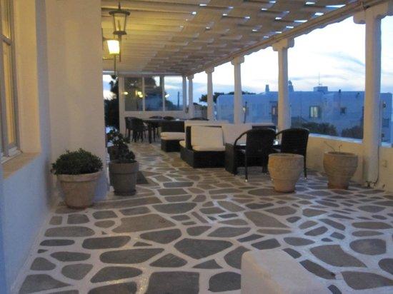 Adonis Hotel: The outdoor veranda.
