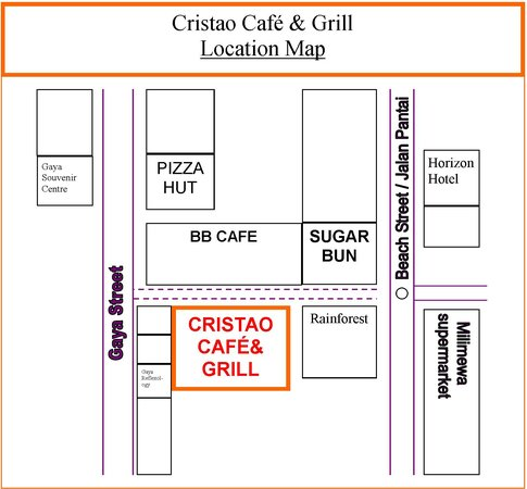 Cristao Cafe & Grill: Location Map