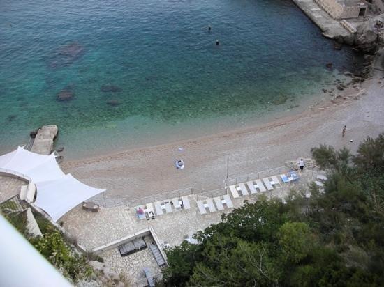 Hotel Bellevue Dubrovnik: ビーチ