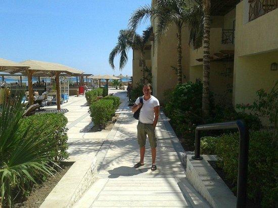 Imperial Shams Abu Soma Resort: небольшая цветущая территория