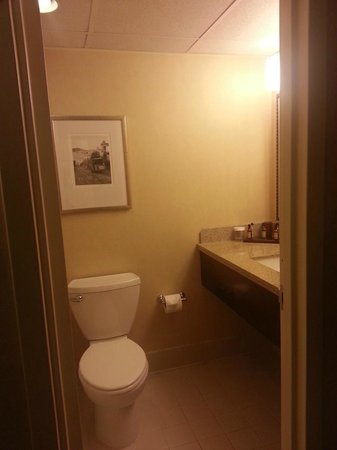San Francisco Airport Marriott Waterfront: Bath in Room 1016