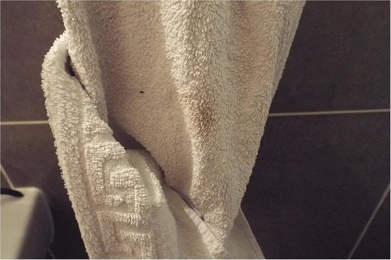 Hotel Montpellier: Dirty towel