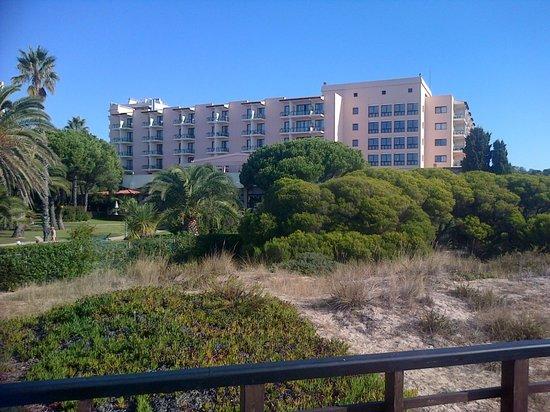 Pestana Dom Joao II : view of hotel from beach bar