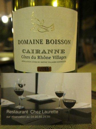 Chez Laurette: Wein