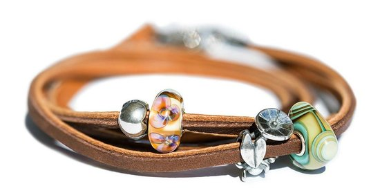 Unique B and Trollbeads: Leather Bracelets