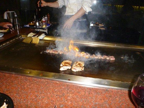 Grand Millennium Auckland: Teppanyaki restaurant in hotel - nice meal