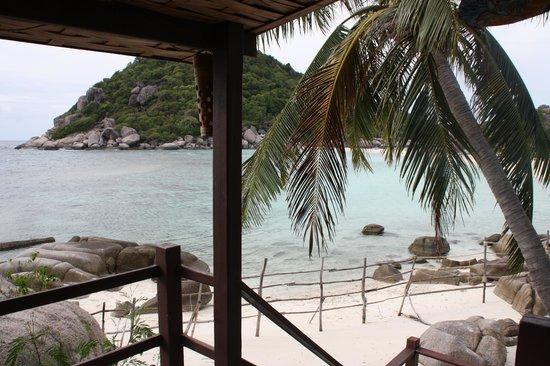 Nangyuan Island Dive Resort: vista dalla veranda riva mare