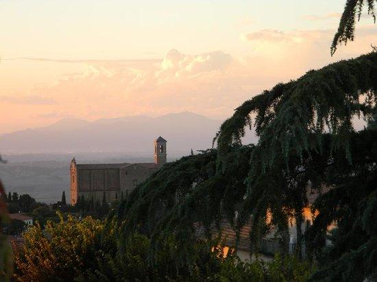 San Lino: Veduta dal belvedere dell'albergo