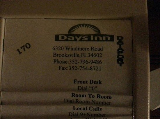Days Inn Brooksville: info