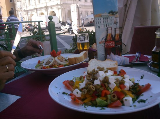 lovely lunch at the taverna in front of hotel Tartini