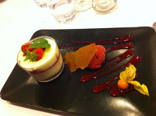 Auberge de St Germain du Crioult: delice chocolat noit, coeur de menthe
