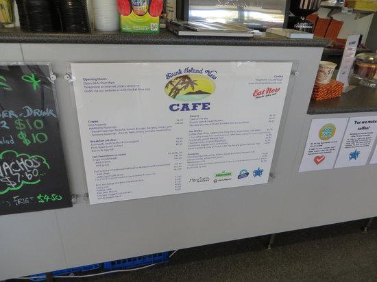 Dunk Island View Cafe: Menu