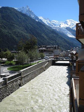 Hotel de l'Arve: Udsigt mod Mont Blanc