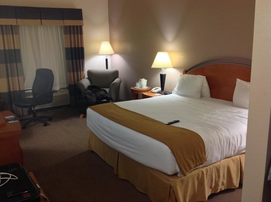 Holiday Inn Express Forest City: King bed