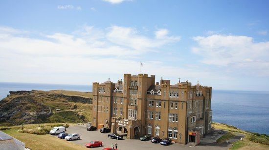 Camelot Castle Hotel: Castle from Air