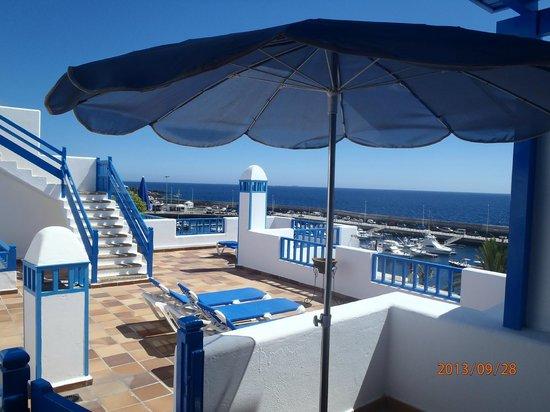 MS Aguamarina Apartments: Vista desde la puerta de la habitación 301