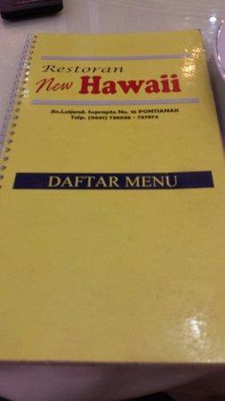 Restoran New Hawaii: Menu book