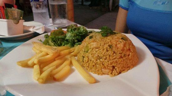 El Ancla: Rijst met garnalen