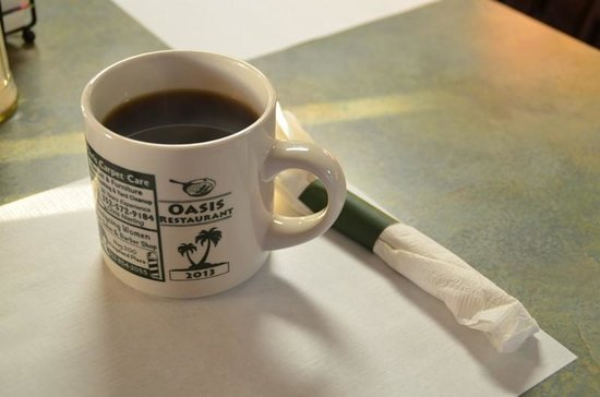 Oasis Restaurant: Decent coffee in a decent mug