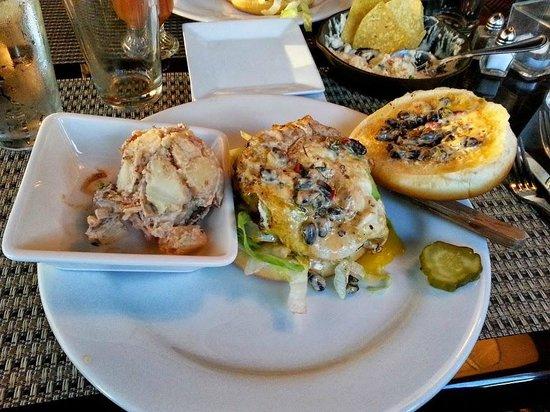 Cribbs Kitchen: Ranchero burger with smoky potato salad