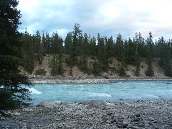 Becker's Roaring River Chalets: The impressive Athabasca River
