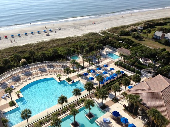 Myrtle Beach Marriott Resort & Spa at Grande Dunes: A view from our 14th floor room.