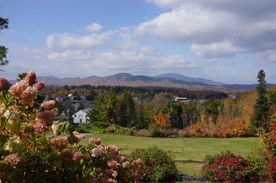 view from the Greenville Inn looking toward Moosehead Lake