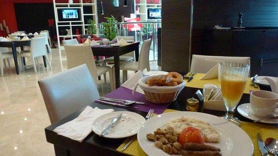 Ramada Encore Doha: A la carte breakfast was good value at QR 65 including freshly-squeezed orange juice