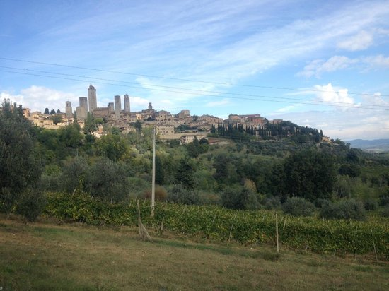 Agriturismo Antico Casolare: View of San Gimignano walking from farmhouse