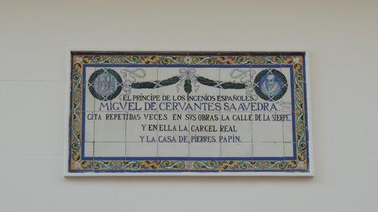 Calle Sierpes: casa/prigione di Cervantes