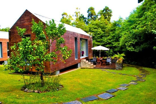 Quinta da Mo : Private patio of our house.  We faced a bamboo forest and a small river. Very secluded and priva