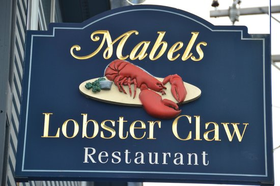 In Kennebunkport, Mabel's Lobster Claw is located by the bay...always busy...and offering tasty