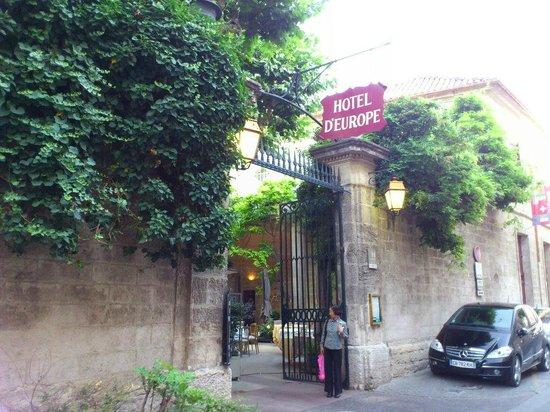 Hotel d'Europe : ホテル入口