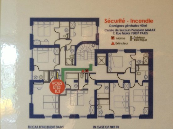 Floor plan 4th floor - Picture of Hotel Duquesne Eiffel, Paris ...