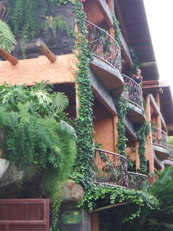 Peace Lodge: View of our balcony.