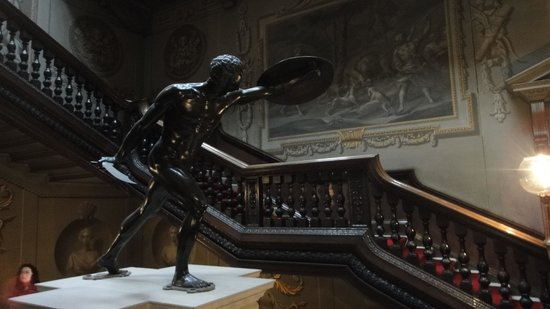 Houghton Hall: Main Staircase with bronze