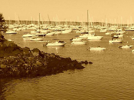 Harborside House: Harbor in sepia tone