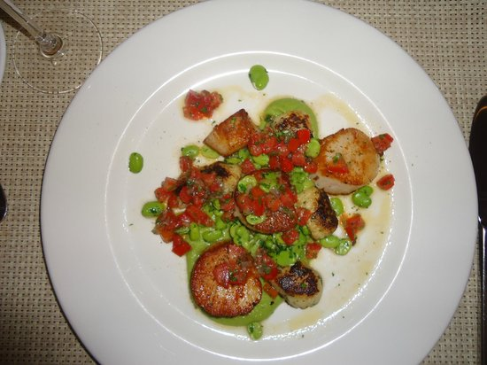 Restaurante Ca Pepe : Scallops and pea puree