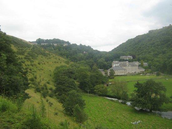 Derbyshire Heritage Walks: Cressbrook Mill, seen from the Monsal Trail