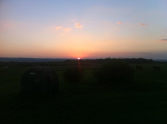 Sunset over Cayuga Lake from Pumpkin Hill