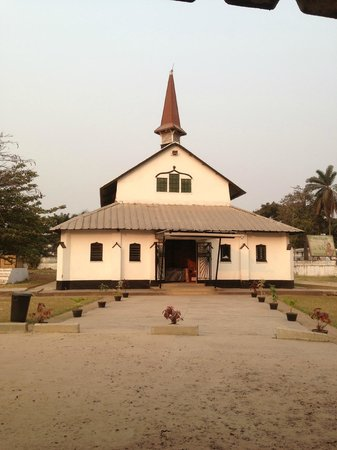 Kinshasa, Kongo (Kinshasa): Front side of the temple