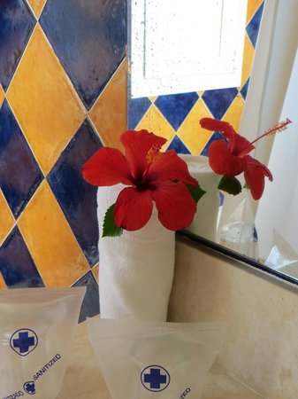 Grupotel Macarella Suites & Spa : A welcoming flower, a nice touch