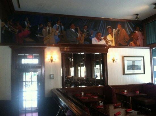 The Hotel Majestic St. Louis : Historic mural atop restaurant. Love this hotel'a history.