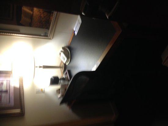 Americas Best Value Inn: Room #229 desk and coffee maker