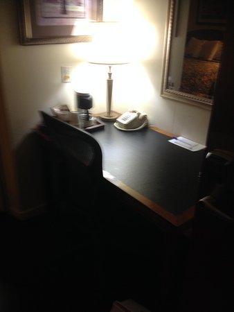 Americas Best Value Inn: Room #229 desk and coffee maker