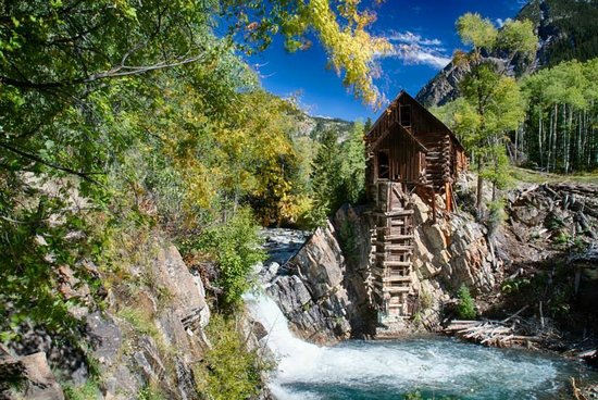 Crystal River Jeep Tours: Crystal Mill near Marble, Colorado at 3:30 pm