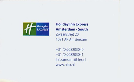 Holiday Inn Express Amsterdam - South: carte