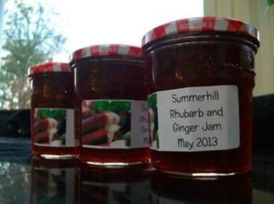 Summerhill B&B: jam made from our rhubarb