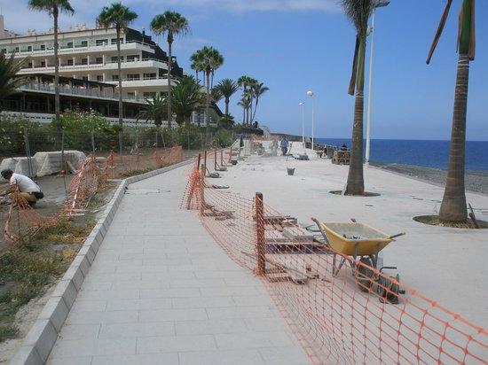 Sol La Palma Hotel: zona de acceso en obras